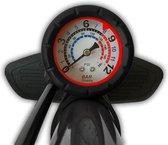 Fietspomp met drukmeter 12 Bar | Inclusief Adapters Voor Verschillende Ventielen | Bike Pump | FietsPomp - Staande fietspomp