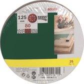 Bosch 25-delige schuurbladenset voor excenterschuurmachines 125 mm - korrel 80