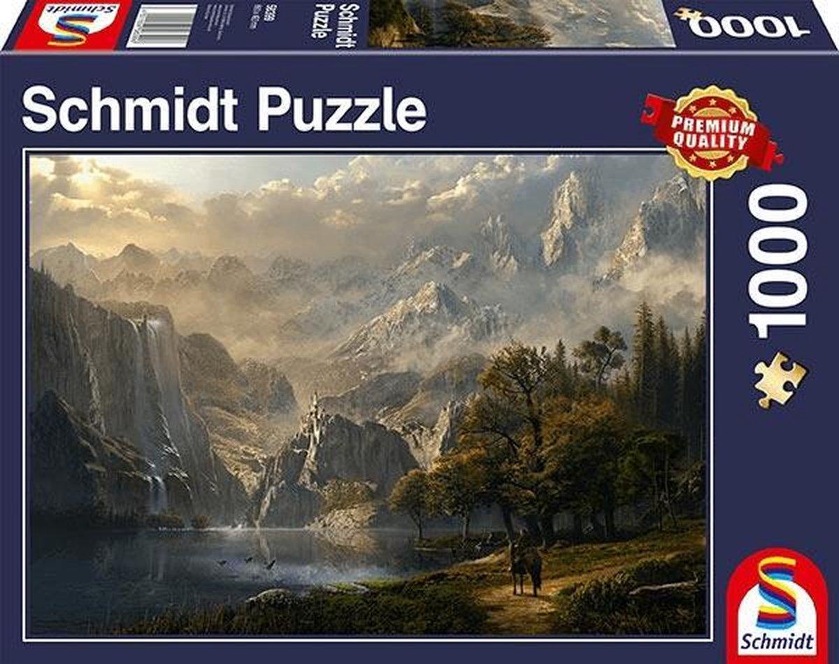 Idyllische Waterval, 1000 stukjes Puzzel