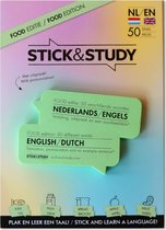Stick and Study – Engels leren met sticky notes! - 50 vel - NEDERLANDS / ENGELS - Food editie -