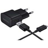 Samsung universele micro USB adapter + reislader + datakabel - zwart