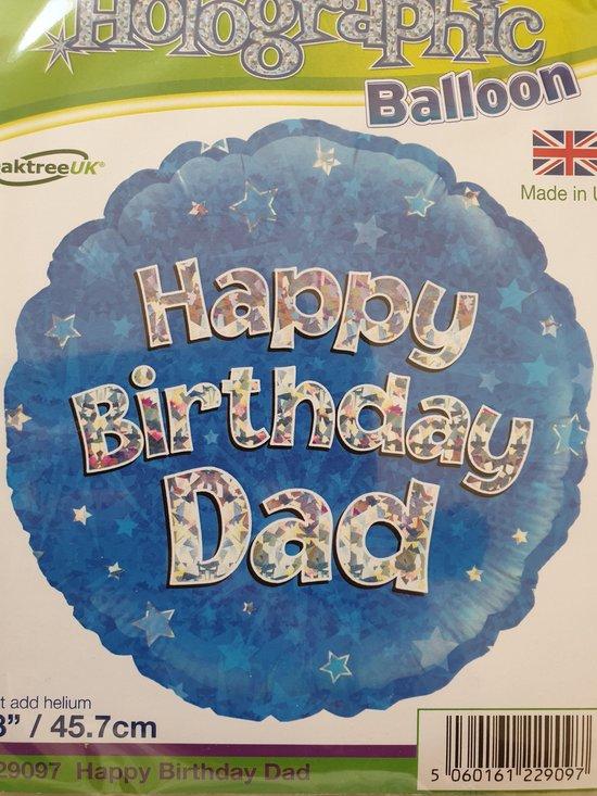 Folieballon happy birthday dad
