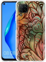 Huawei P40 Lite Hoesje Abstract colorful