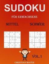 Sudoku fur Erwachsene Mittel-Schwer