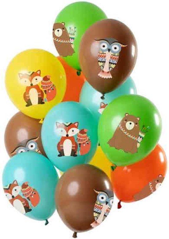 Ballonnen Bosdieren 12 stuks