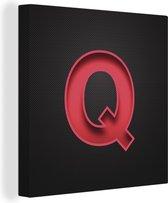 Een illustratie van de letter Q canvas 90x90 cm - Foto print op Canvas schilderij (Wanddecoratie woonkamer / slaapkamer)