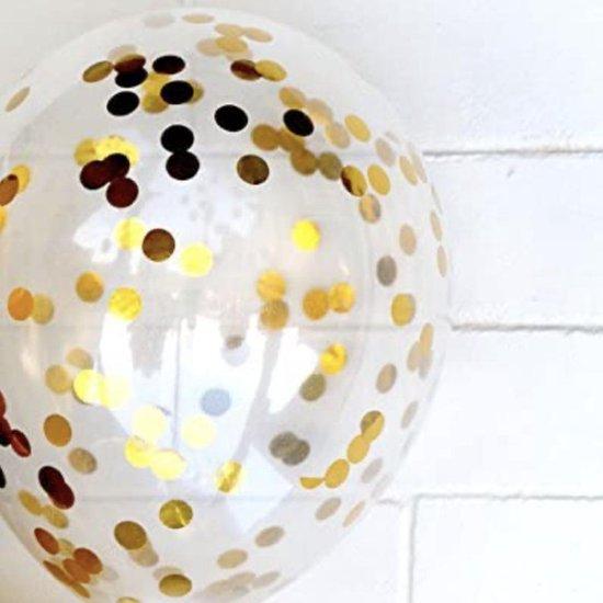 a sunny day ballonnen - 30 stuks - goud - zwart - glitter/confetti - geschikt voor helium
