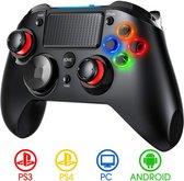 PS4 Wireless Controller – Programmeerbare Knoppen– Geschikt voor PS4/PS3/PC– Zwart LED