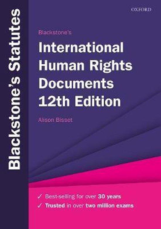 Boek cover Blackstones International Human Rights Documents van Bisset, Alison (Paperback)