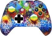 Xbox One Controller Skin | Controller hoesje + Thump grips | Art splash