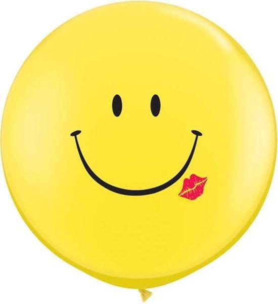 Ballonnen smiley met kus (2 stuks)