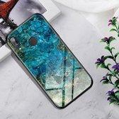Schokbestendig gehard glas + TPU Case voor Huawei P20 Lite (Emerald)