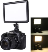 LED-006 104 LED 850LM dimbaar videolicht op camera Fotografie verlichting invullicht voor Canon, Nikon, DSLR-camera