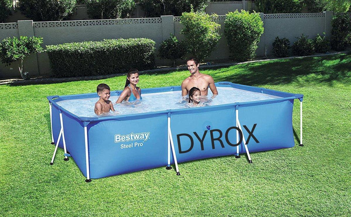 Intex Metal Frame Pool - 220 x 150 x 60 cm. Met gratis zwemband, veel waterplezier. Zwembad - Tuin - Camping