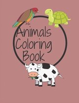 Animals Coloring Book: FUN FACTS COLORING BOOK FOR KIDS