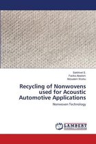 Recycling of Nonwovens used for Acoustic Automotive Applications
