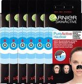 Garnier Skinactive Face SkinActive PureActive Nose strips Charcoal - 12 stuks - Tegen mee-eters, verstopte poriën en overtollig talg - Voordeelverpakking