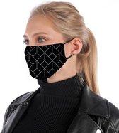 Zwart mondkapje | mondmasker | = katoen, herbruikbaar, wasbaar. Geschikt voor OV