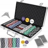 Deluxe Pokerset In Aluminium Koffer - Casino Omaha / Texas Hold Em Pro Poker & Blackjack Set Met 300 Chips & Poker Kaarten Playing Cards & Dobbelstenen Dice - Pokerkoffer