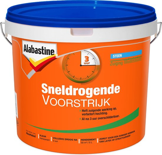 Alabastine Voorstrijk Sneldrogend - 5 liter - Alabastine