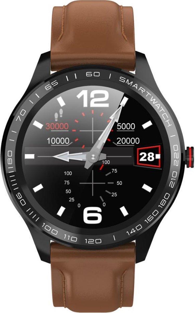 Belesy®  - BL218L - Smartwatch - Bruin kopen