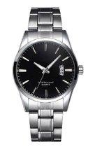 Stijlvol heren Horloge - 40 mm- zwart - I-deLuxe verpakking