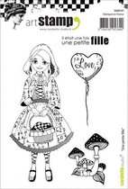 Carabelle Studio • cling stamp A6 une petite fille
