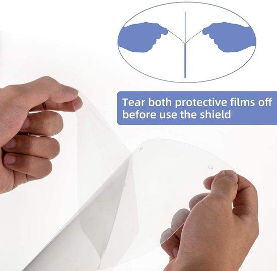 Verstelbare Gezichtscherm - Gelaatscherm - Spatscherm - Gelaatmasker - FACE SHIELD - Beschermkap voor gezicht - bacterie - veiligheidsmasker