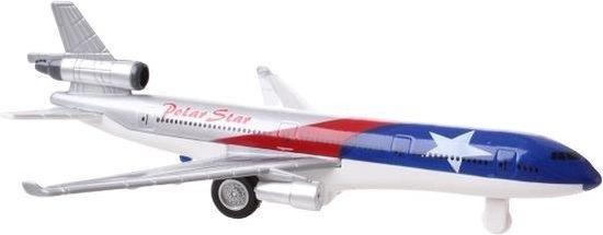 Afbeelding van Tom Vliegtuig Aero Jet 19,5 Cm Die-cast Blauw/rood/grijs speelgoed