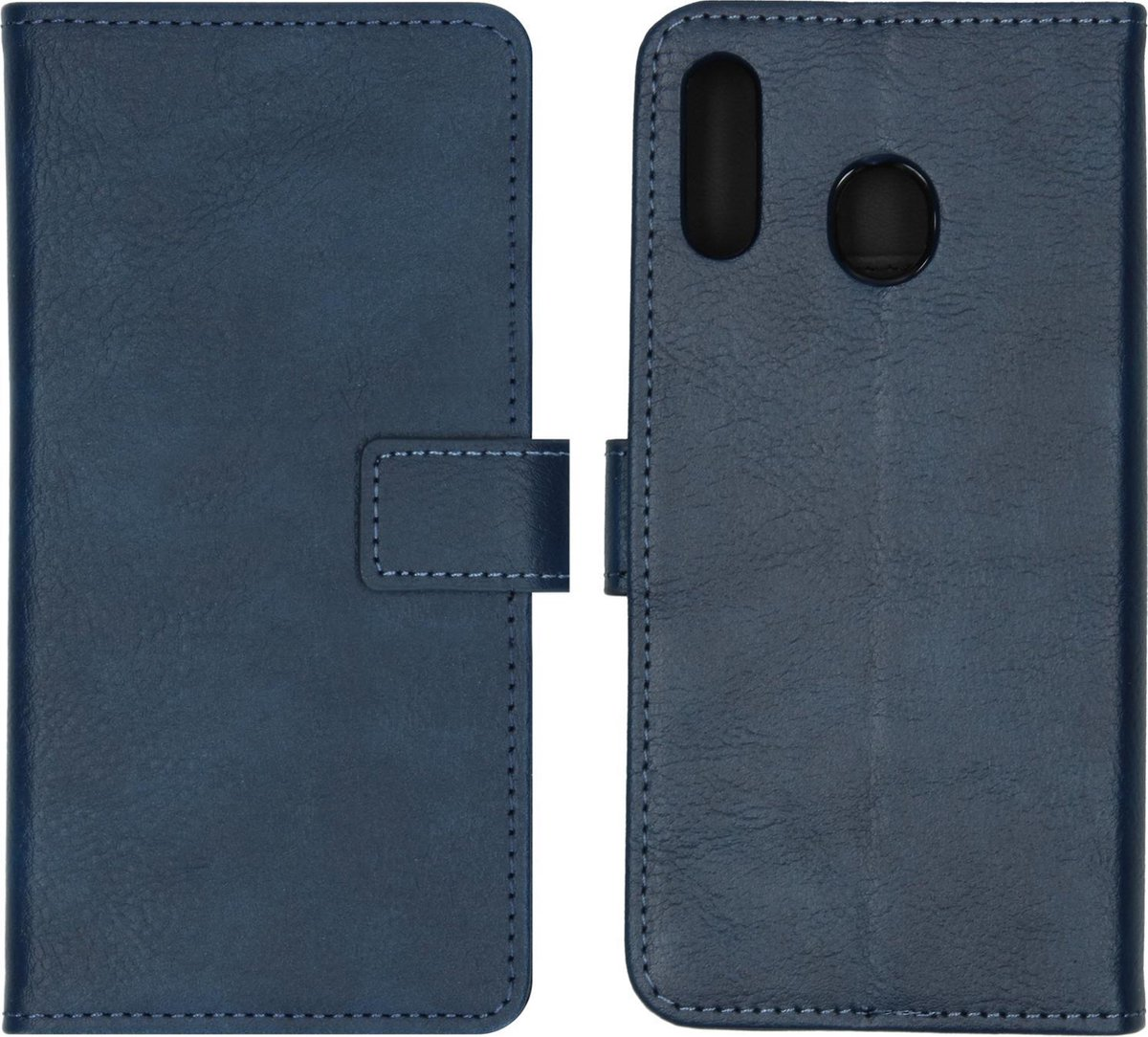 Afbeelding van product iMoshion Luxe Booktype Samsung Galaxy M20 Power hoesje - Blauw