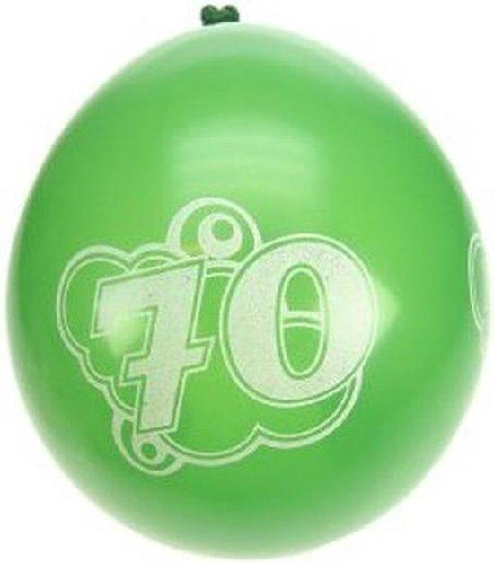 8x ballonnen 70 jaar thema feestartikelen leeftijd versieringen