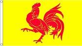 Wallonie haan vlag 150 x 90 cm