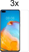 Huawei P40 Screenprotector - 3 x Tempered Glass Screen Protector