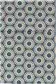Cottonbaby wieglaken spiro blauw/okergeel 75x90 cm