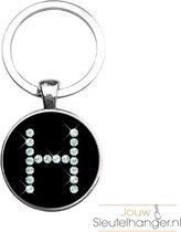 Sleutelhanger Glas - Diamant H
