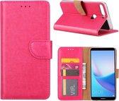 Huawei Y7 2018 - Bookcase Roze - portemonee hoesje