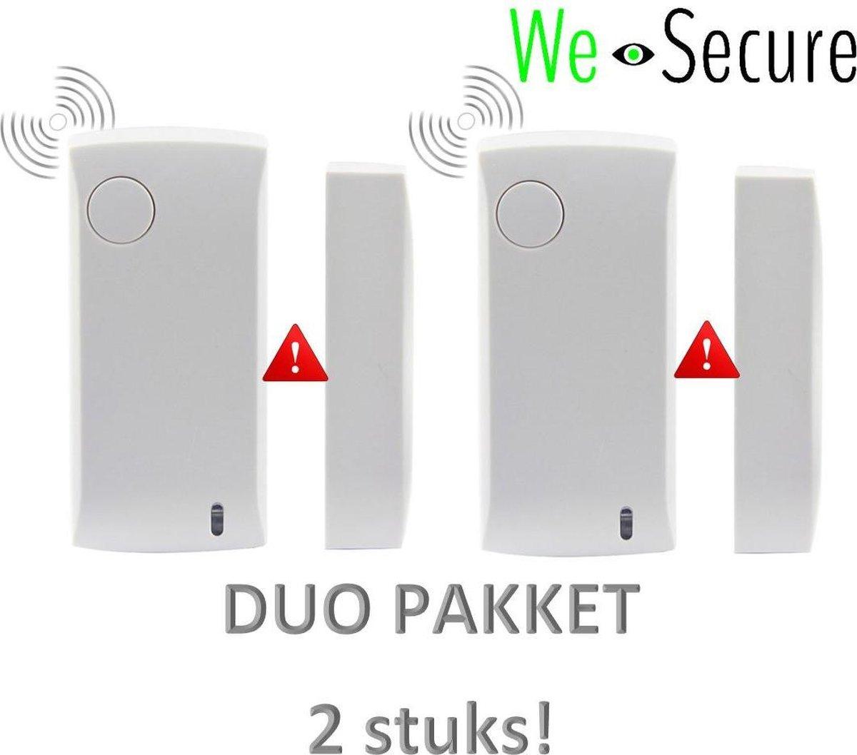 Duo-pakket Draadloze deur/raam sensor uitbreidings-set voor de i-GUARD draadloze Alarmsysteem