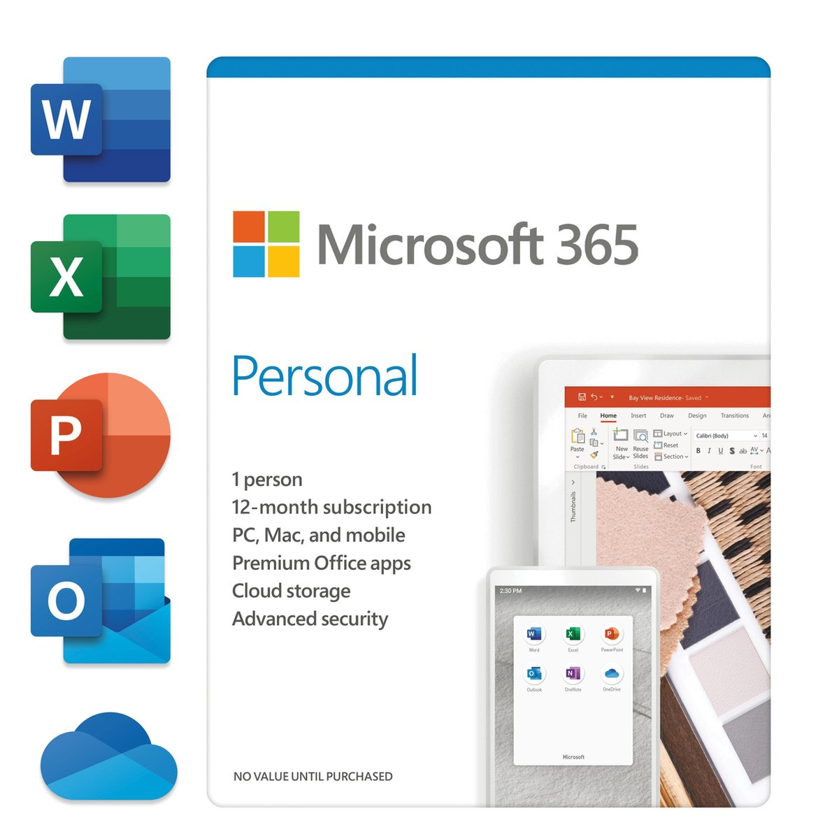 Microsoft 365 personal - Engels - 1 jaar abonnement (doosje)
