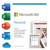 Microsoft 365 personal - Engels - 1 jaar abonnemen