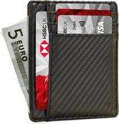 YONO Pasjeshouder Mannen – Slim Wallet Creditcardhouder – RFID – 6 pasjes – Carbon Zwart