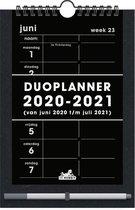 Hobbit familieplanner 2020/2021 - schoolkalender - duoplanner - stift - D3 - zwart - voor maximaal 2 personen -formaat A5+