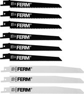 FERM Reciprozaagbladenset – 9 stuks