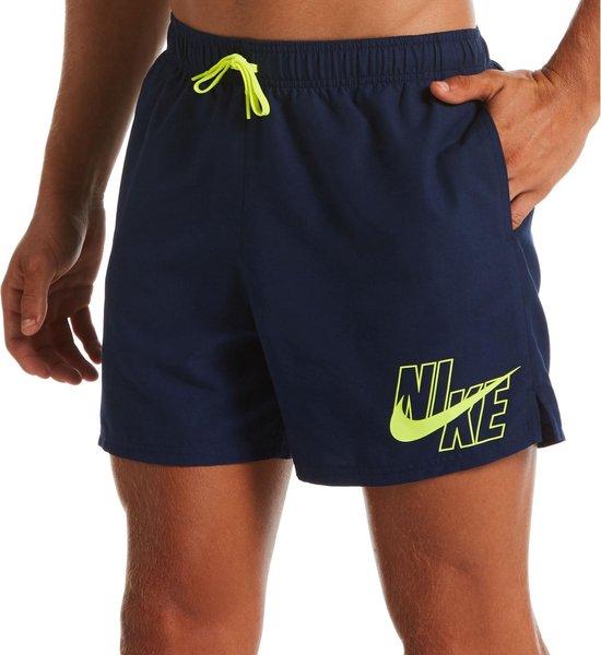"""Nike Volley 5"""" Zwembroek - Maat XL  - Mannen - navy/ geel"""