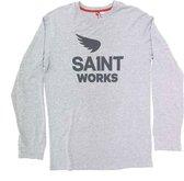 SA1NT Long Sleeve Logo Tee -Grijs-M