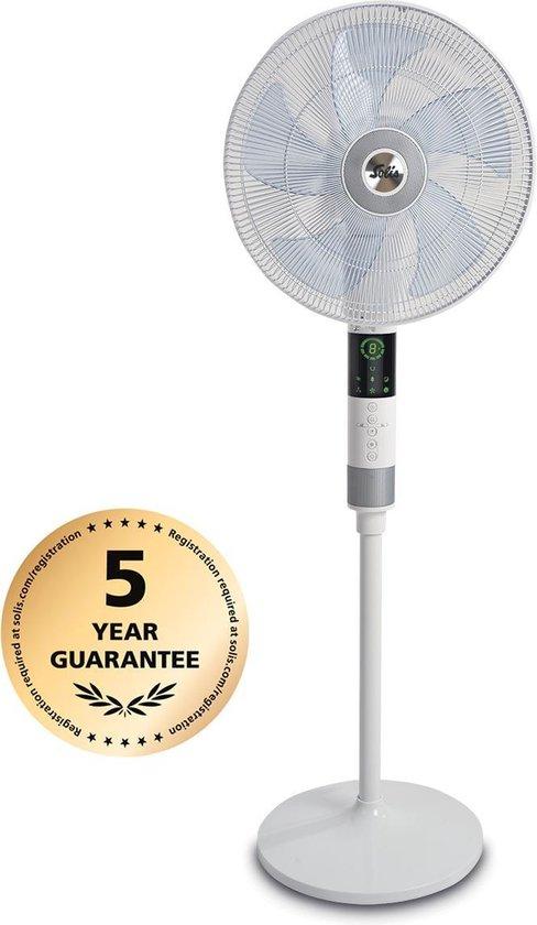 Solis Breeze 360° Ventilator Staand 7582 - Ventilator Met Afstandsbediening - Wit