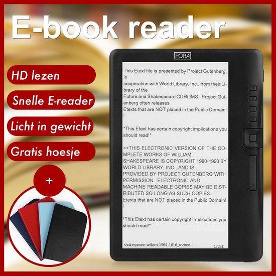 Simple E-Reader V2 – Hoge Resolutie & Extra Groot Beeldscherm + Oordopjes & Hoesje & Extra Batterij – 8GB -  Zwart – E-Book Reader