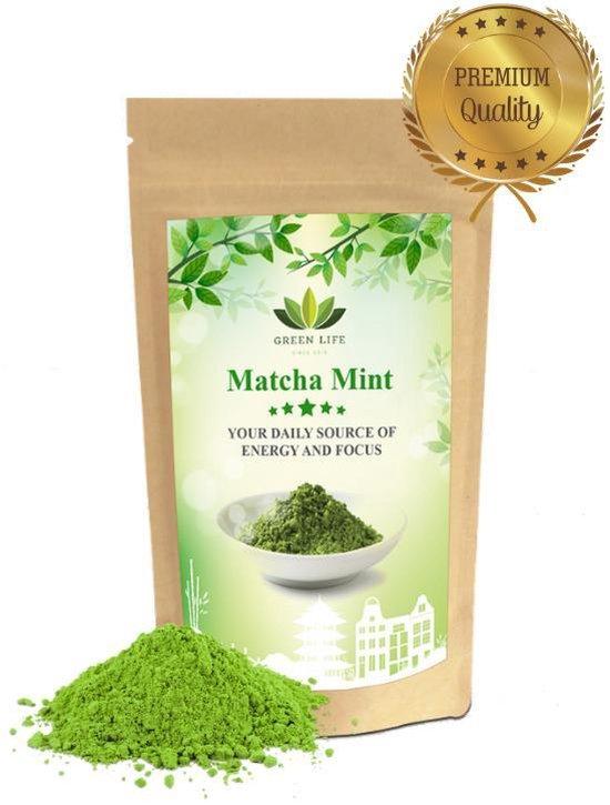 Matcha Thee Mint - 50 gram - Frisse Munt in combinatie met Matcha - # SPRING SALE