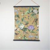 Van Manen - stoffen wanddoek - bird - 65 x 85 cm