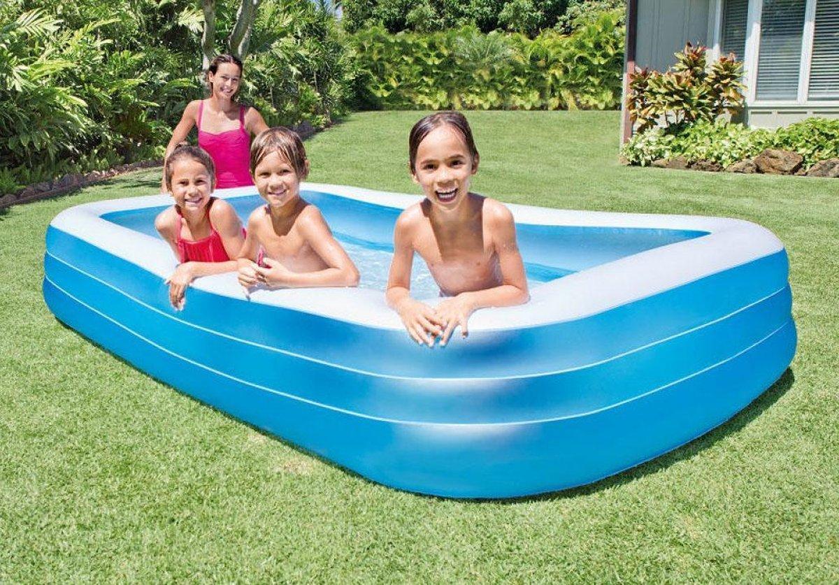Intex Zwembad opblaasbaar - 305 x 183 cm - kinderzwembad - Inclusief duikspeelgoed