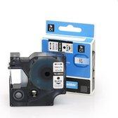 Alternatief voor Dymo D1 45021 tape wit op zwart (12mm) | Dymo labelmanager 100/ 120p/ 150/ 160/ 200/ 210D/ 220P/ 260P/ 280/ 300/ 350/ 350D/ 360D/ 400